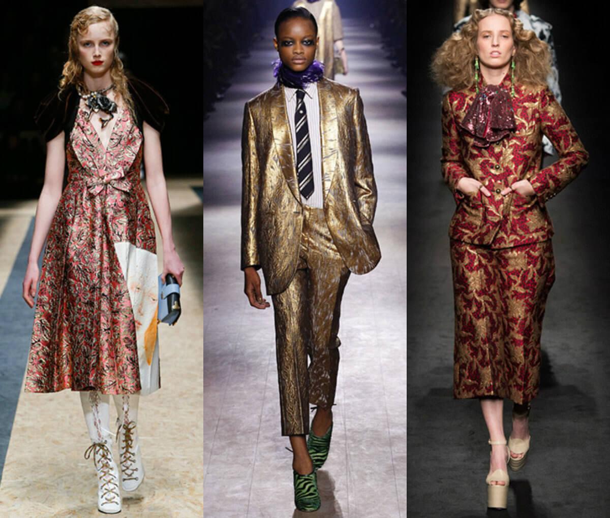 одежда из парчи мода 2016-2017