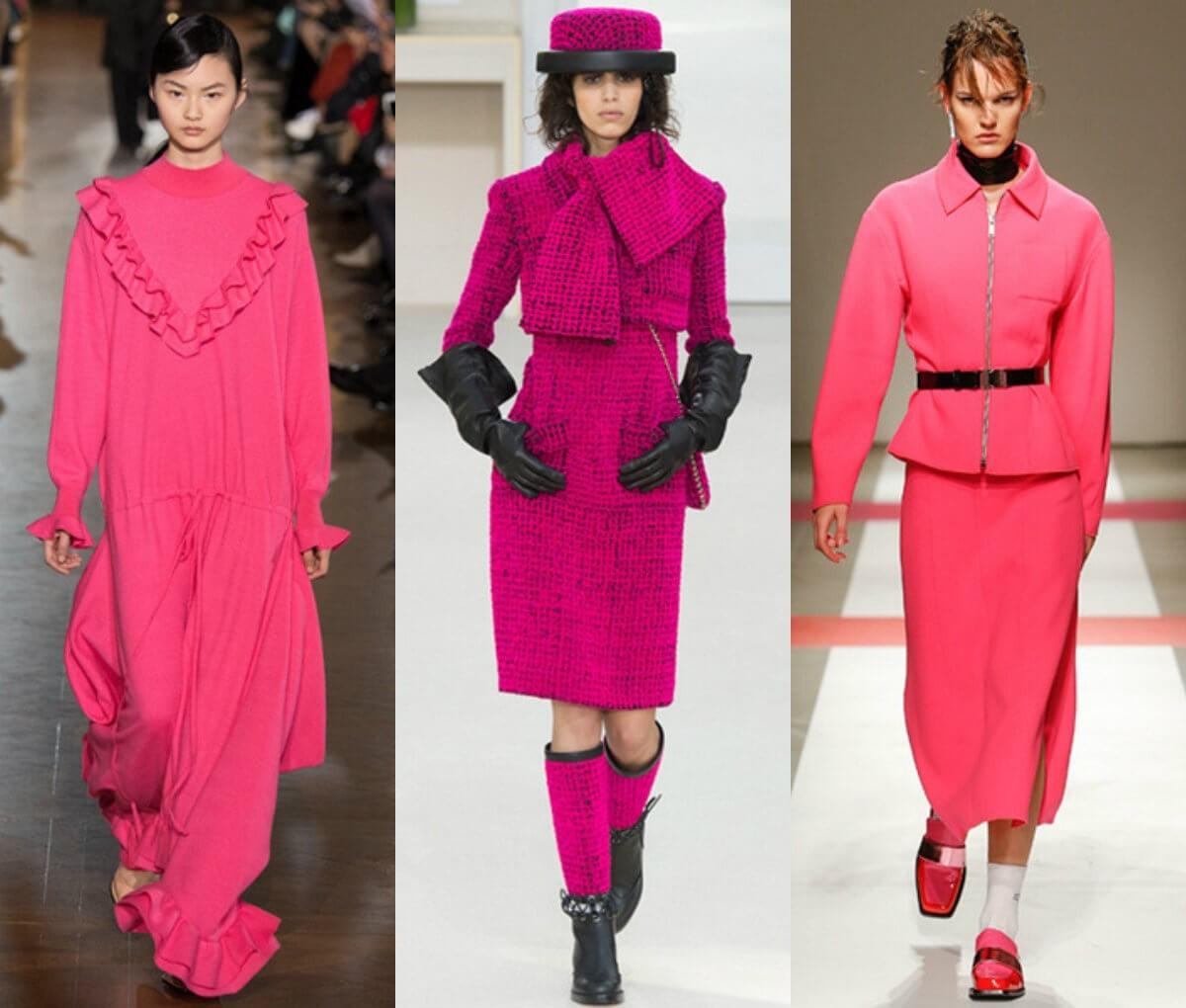 Мода осень 2016, цвет фуксия в одежде