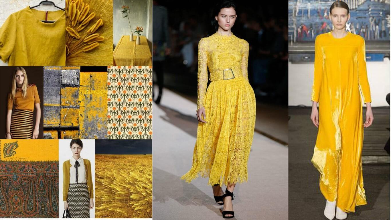 солнечный, горчичный, желтый, светло желтый: модные цвета и оттенки 2016-2017