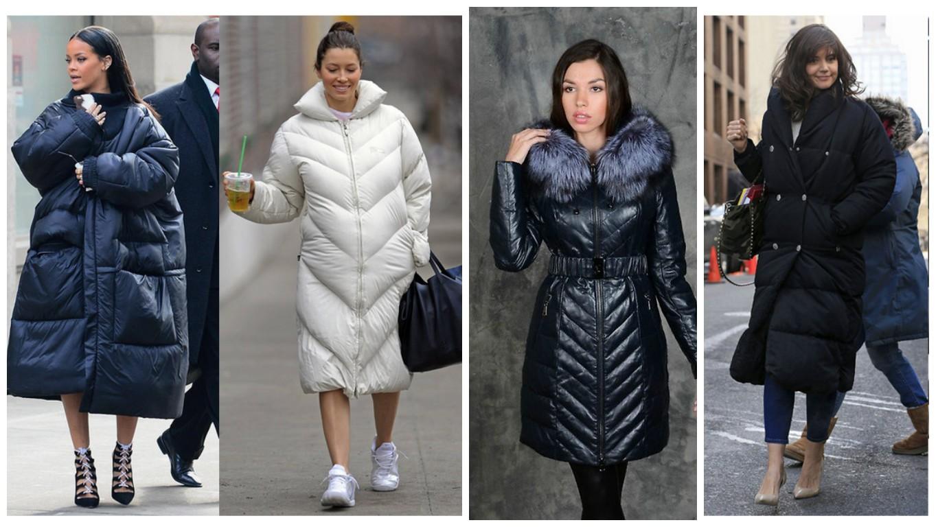 Классические женские пуховики, модная классика