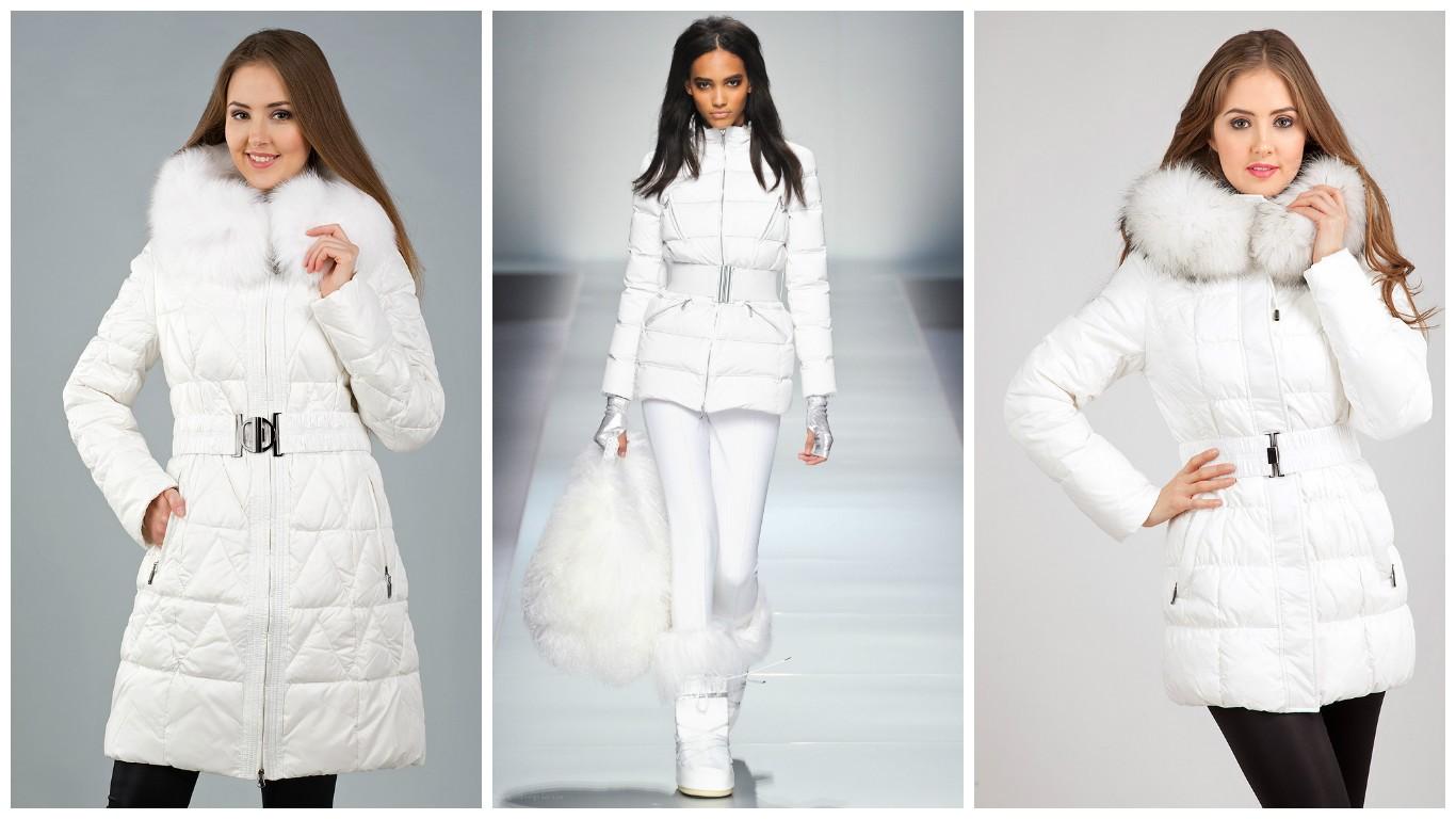 модные цвета пуховиков 2017, белый модный пуховик 2017