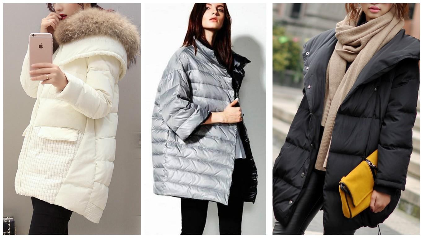 Пуховики женские, стиль оверсайз, зимняя мода 2017