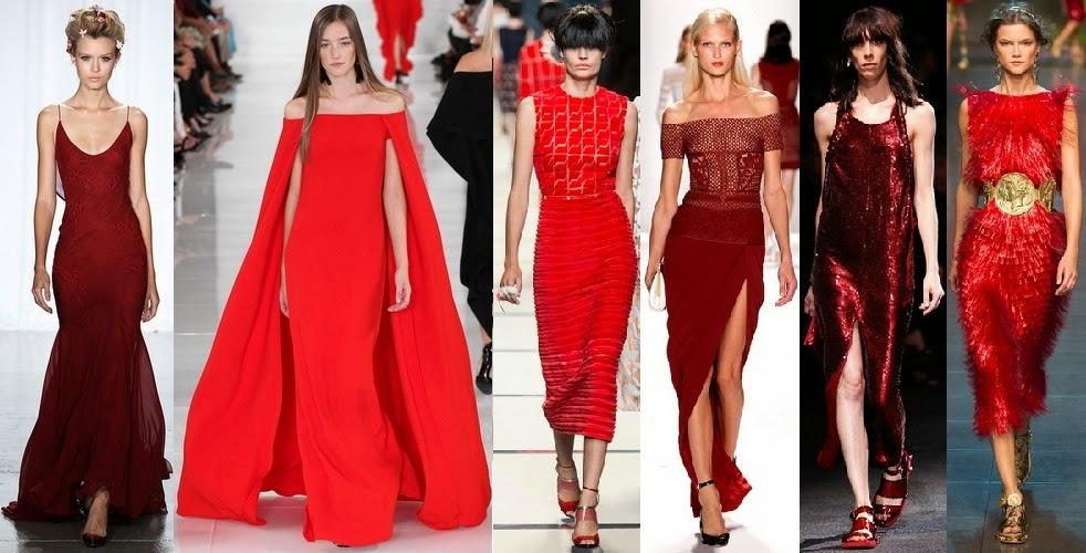 красный цвет 2017, модные оттенки весна лето 2017