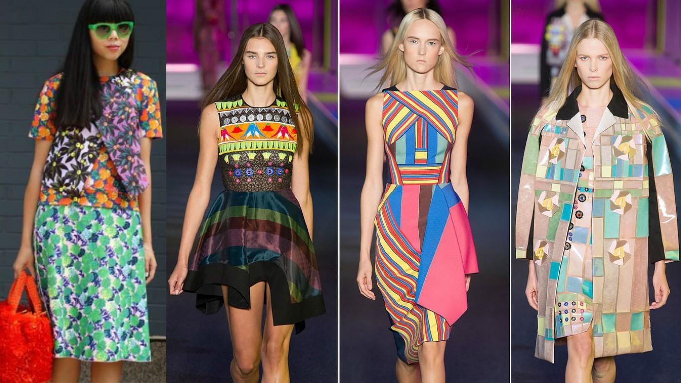 модный принт весна лето 2017, экзотические, гоеметрические модные принты
