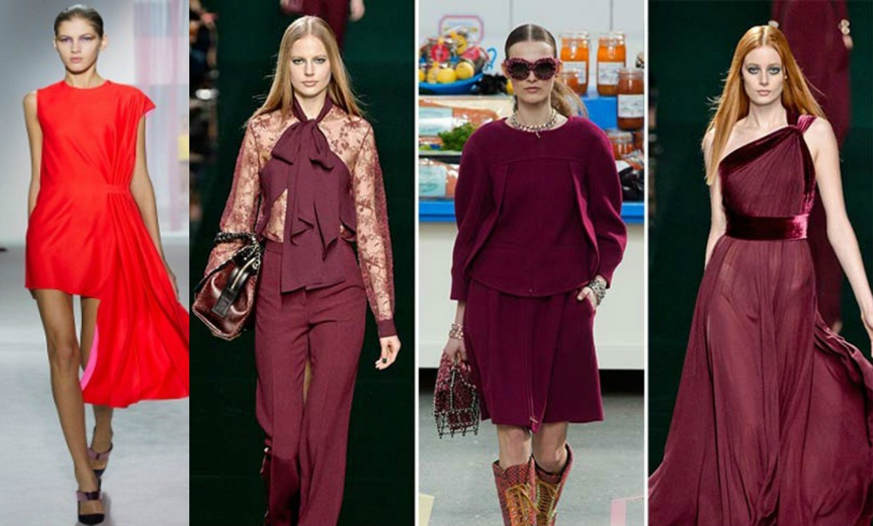 красный модный цвет, весна лето 217, модный красный, бордо, винный