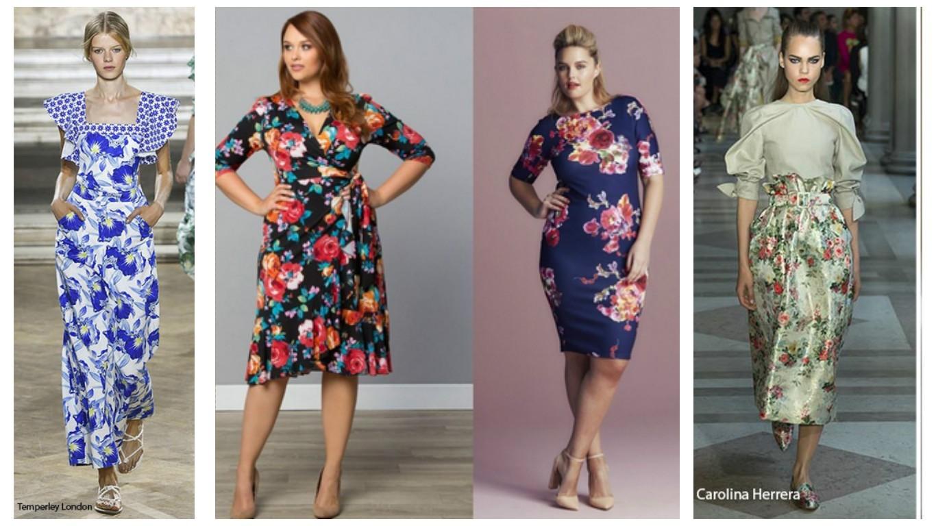 цветочный принт, модный принт, модные платья в цветочек