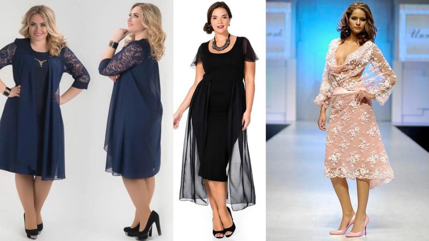мода для полных весна лето 2017, кружевные, прозрачные платья