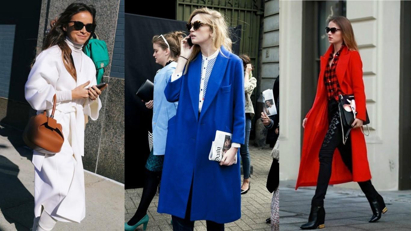 что модно носить весной 2017, 2018, модные пальто, уличная мода