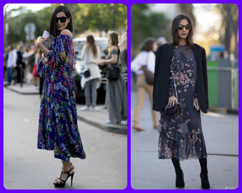 модные платья весны и лета, 2017-2018, уличная мода фото воздушных платьев