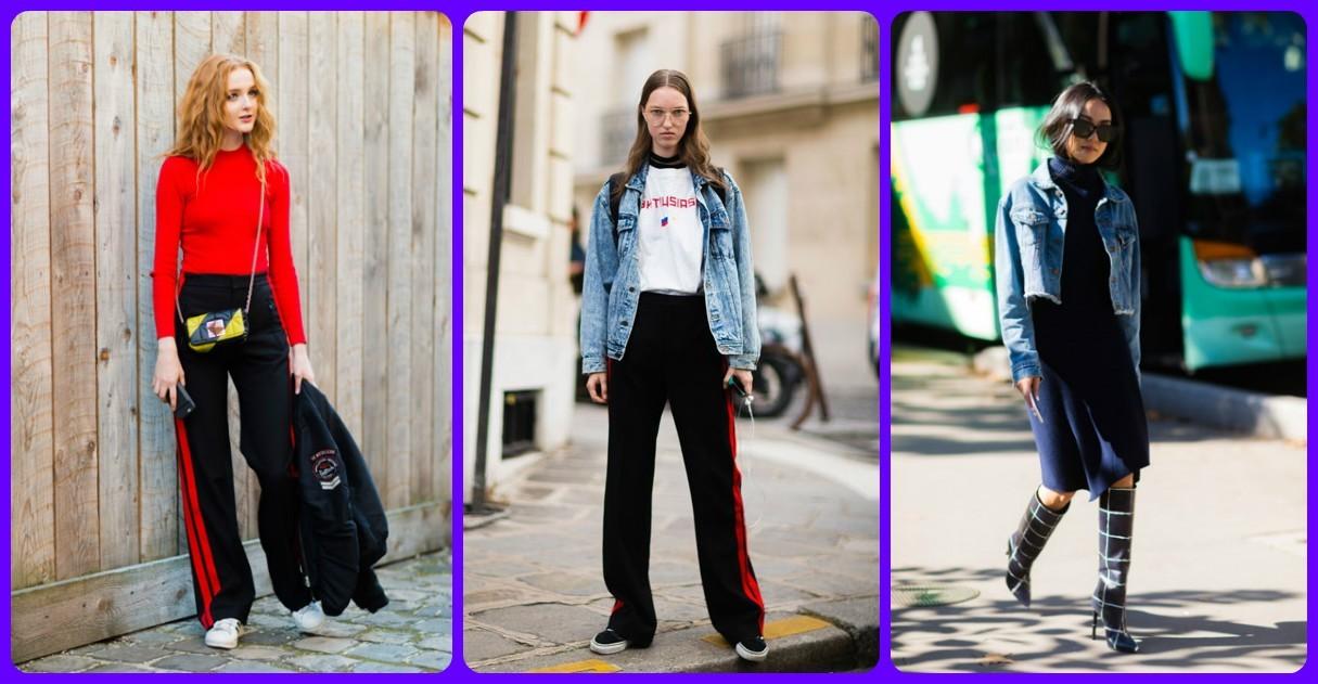 Уличная мода Парижа фото, модные луки весна лето 2017, модные джиновые куртки, 2018 фото
