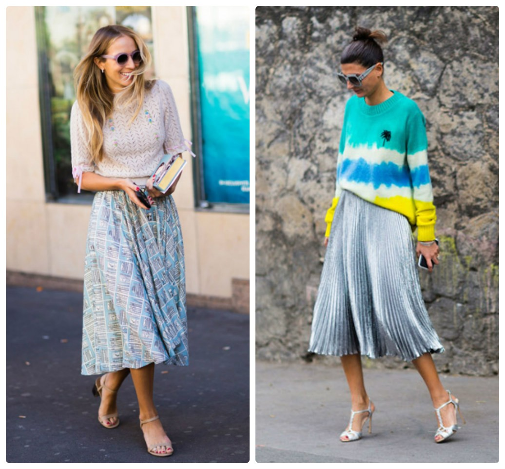 уличная мода 2017-2018 фото, модные юбки, мода весна лето