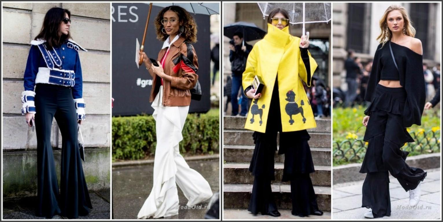 женские брюки с воланами, мода осень зима 2018
