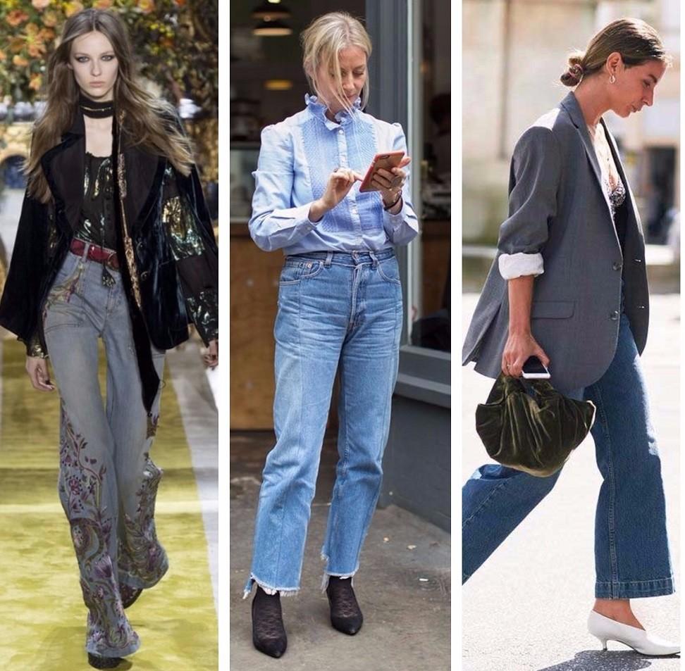 модные джинсы 2017, 2018, джинсы для женщин, уличная мода