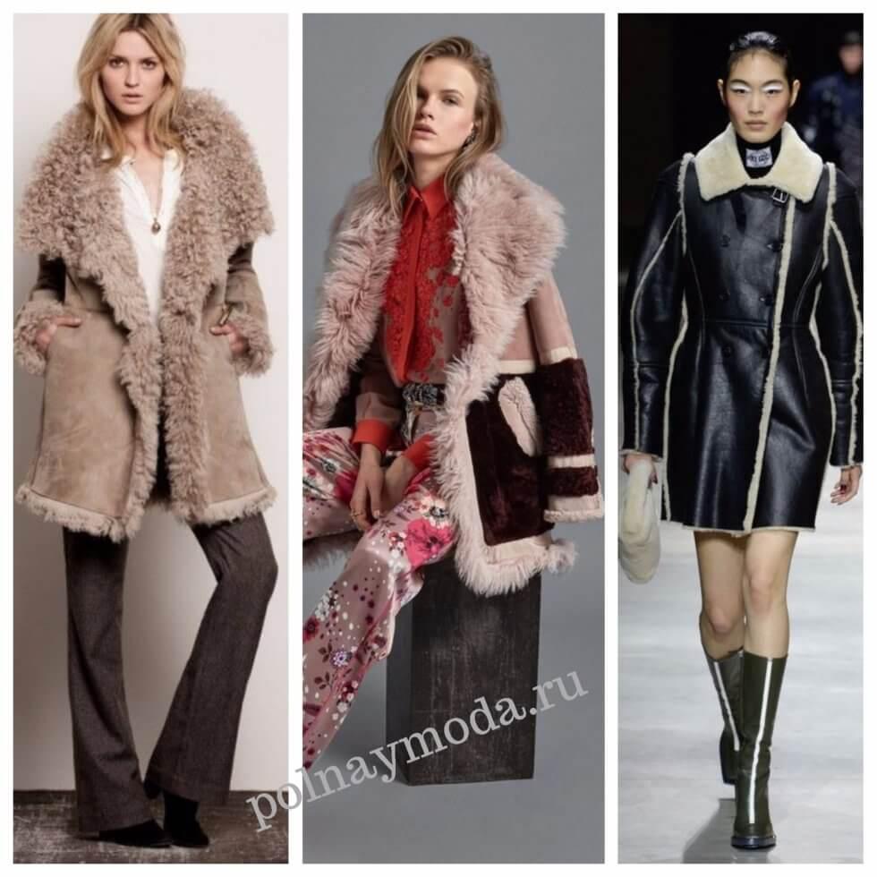 модные дубленки пальто фото 2018