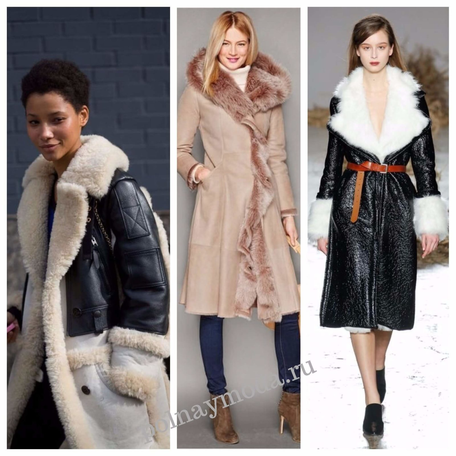 мода 2018 дубленки женские