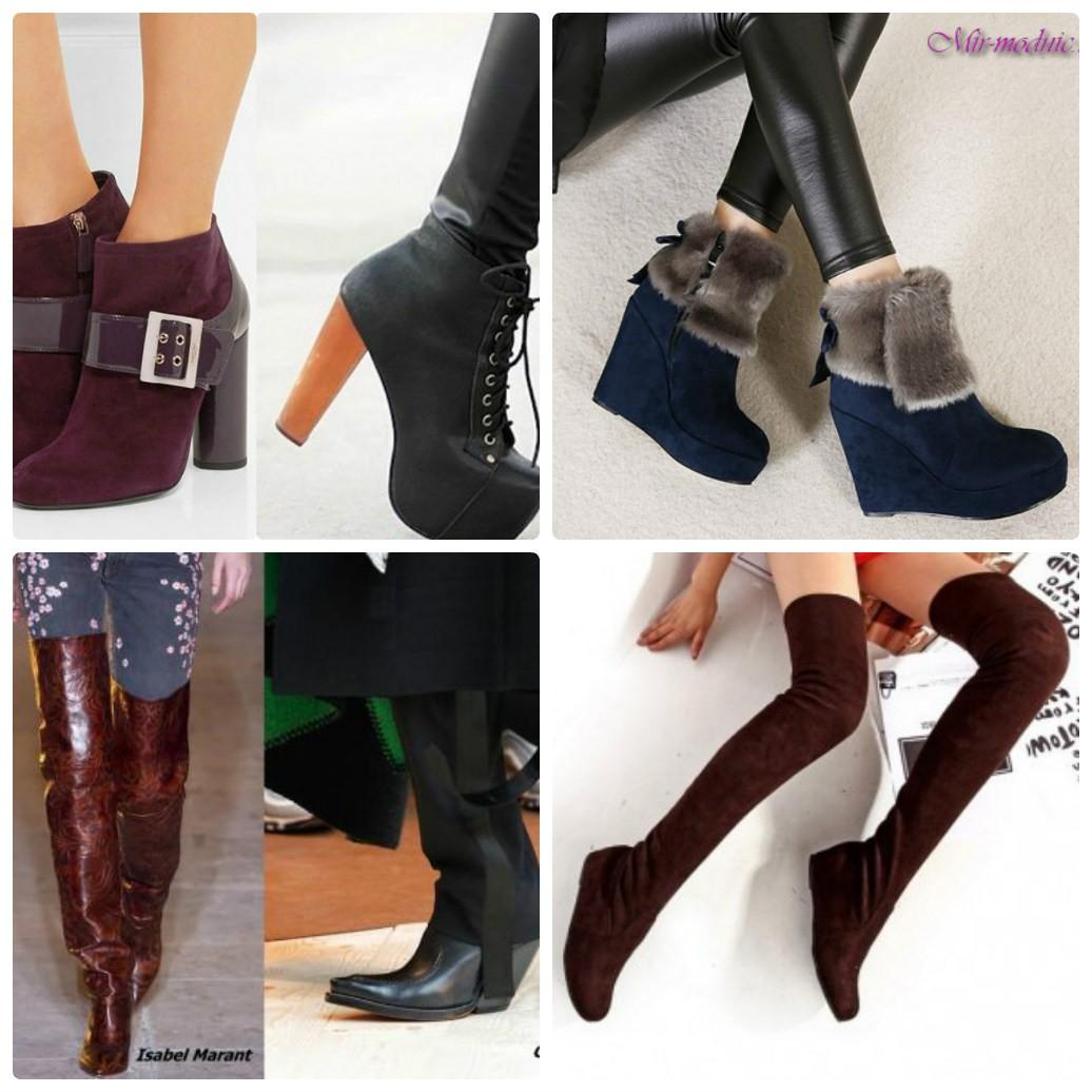 зимняя женская обувь, сапоги, сапоги-чулки, полусапожи на платформе, ботильоны, сапоги ковбойские