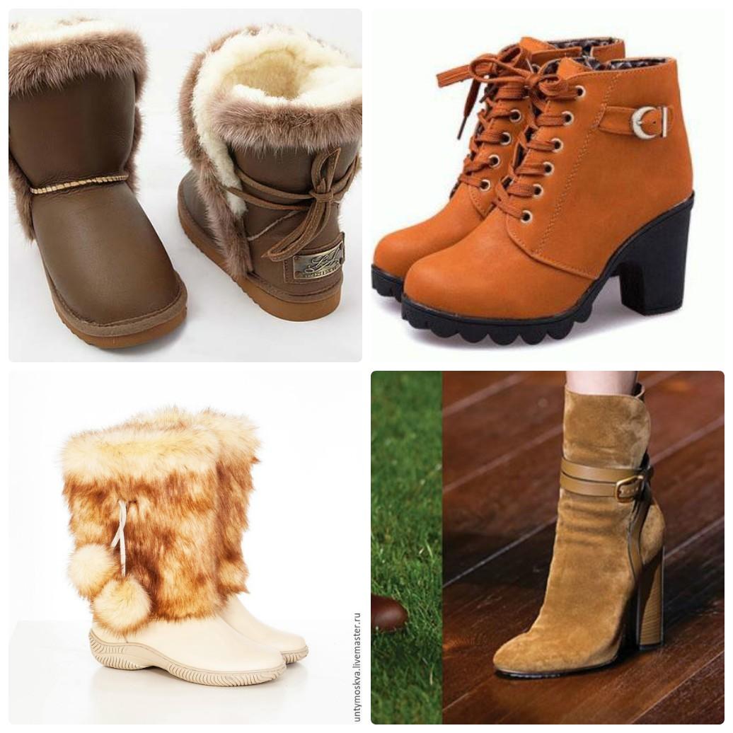женская зимняя обувь, угги, унты, ботильоны, ботинки женские с мехом, подкладкой