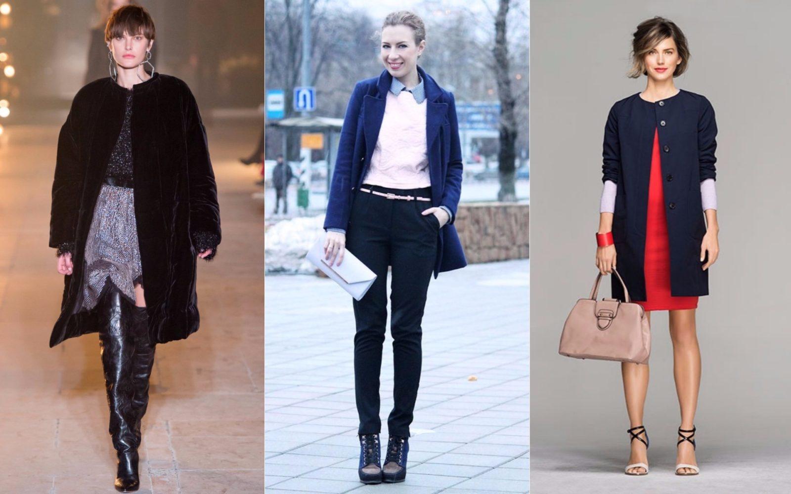 короткое пальто мини, пальто пиджак. Синее с узкими брюками, в сочетании с юбкой и платьем