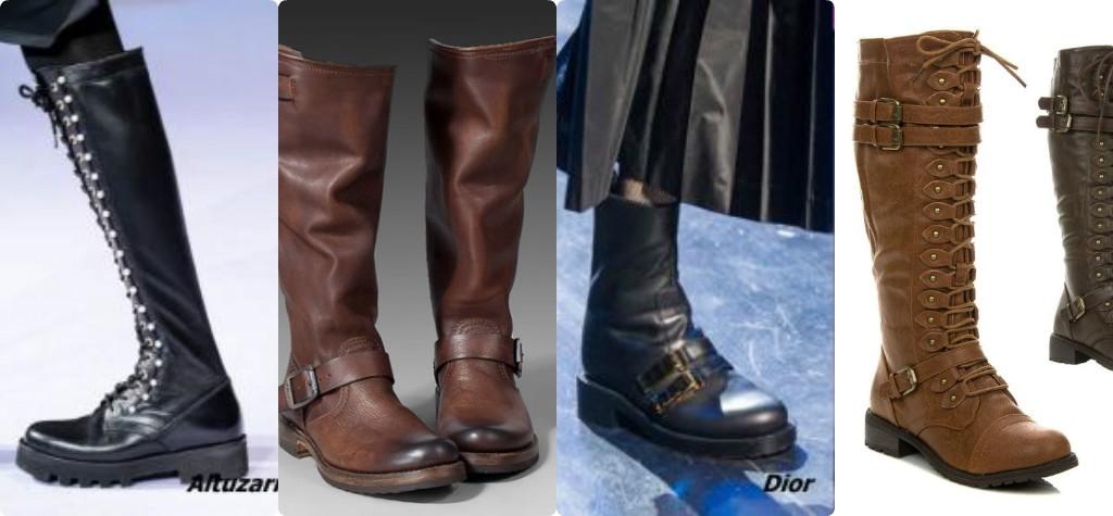 модные осенние сапоги в стиле милитари, ковбойские сапоги, сапоги с пряжками, полусапожки сапоги со шнуровкой
