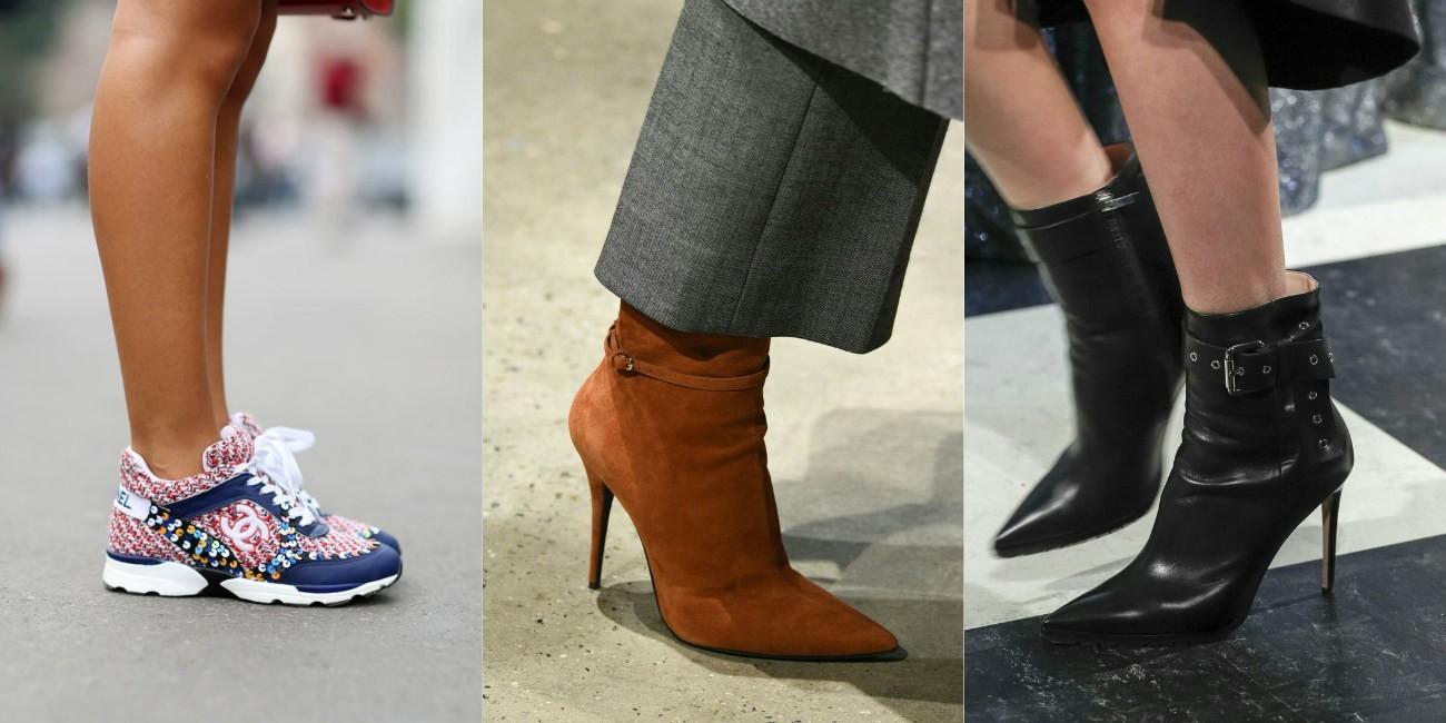 модная обувь осень, модная женская обувь, сапоги на шпильке, полусапожки мода 2018 2019