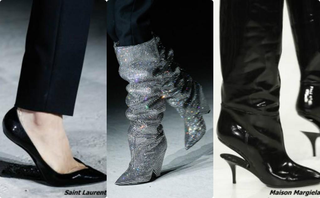Женская обувь с летящим, невидимым каблуком, гламурная блестящая обувь