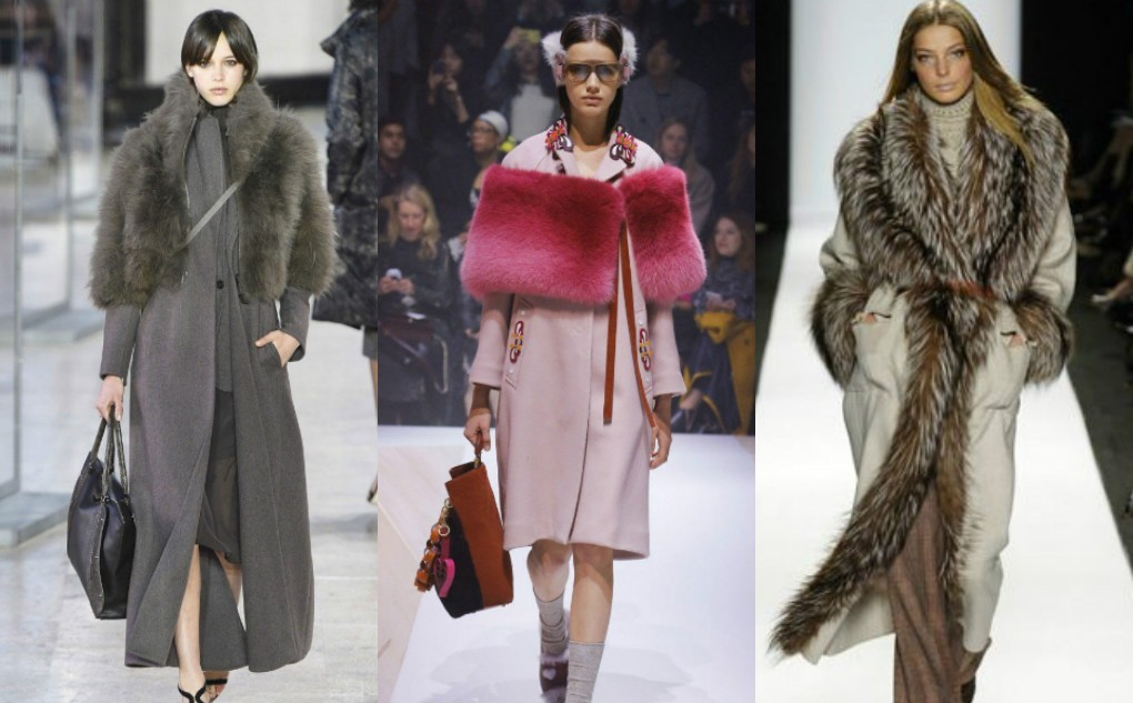 женское пальто с меховой накидкой. Пальто модное зима 2018 2019 с меховой отделкой.