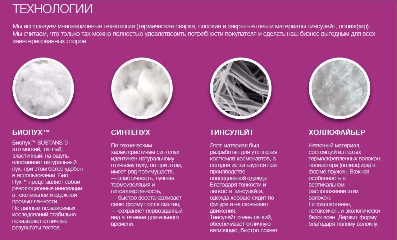 синтепух, био-пух, экопух, искусственный лебяжий пух