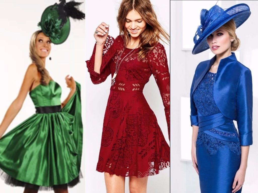 платья со шляпкой для нового года зеленый, бордо, синий