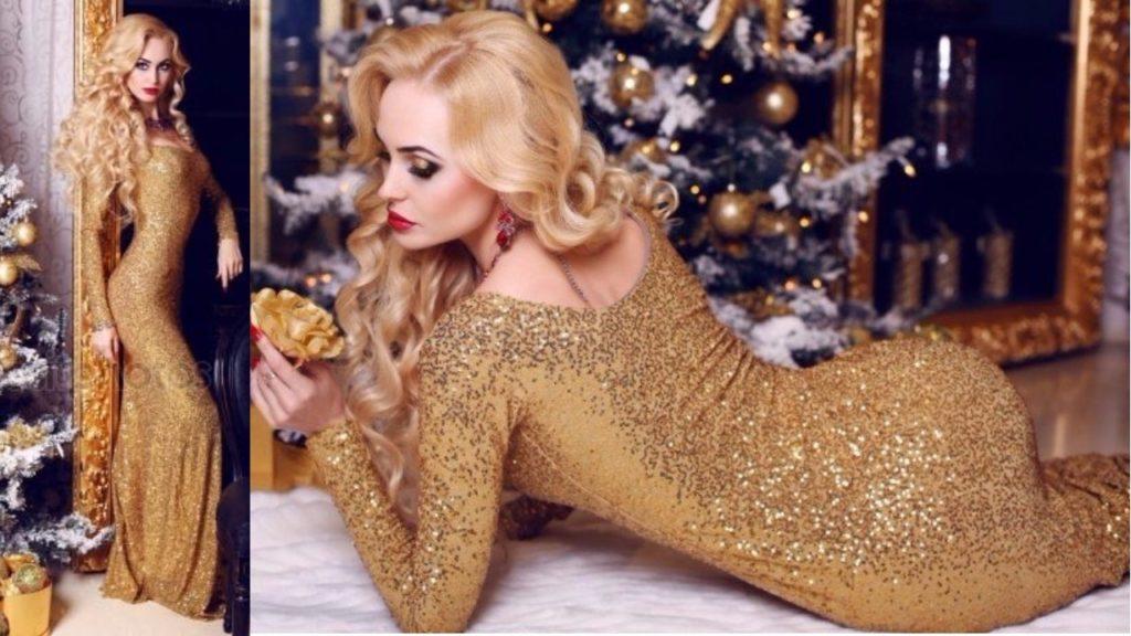 в чем надо встречать новый год 2018 Собаки, золотые платья для нового 2018