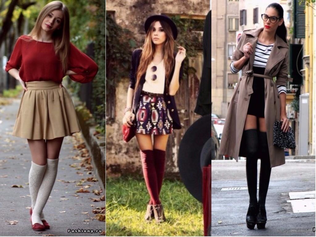 гольфины с юбкой мини платьем модные женские образы