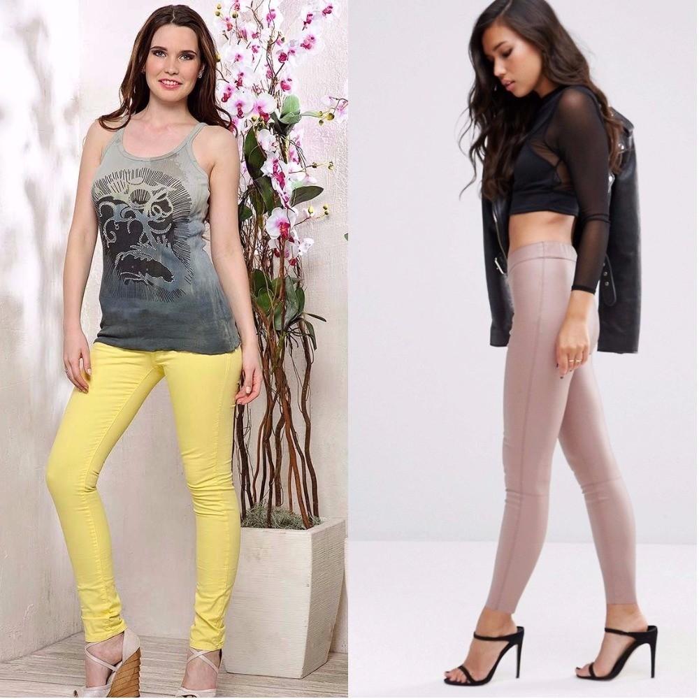 модные триггенсы, облегающие трикотажные брюки