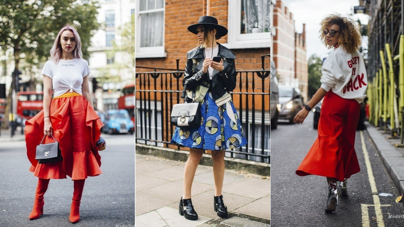 уличный стиль мода весна лето 2018 воланы на юбке платьях брюках