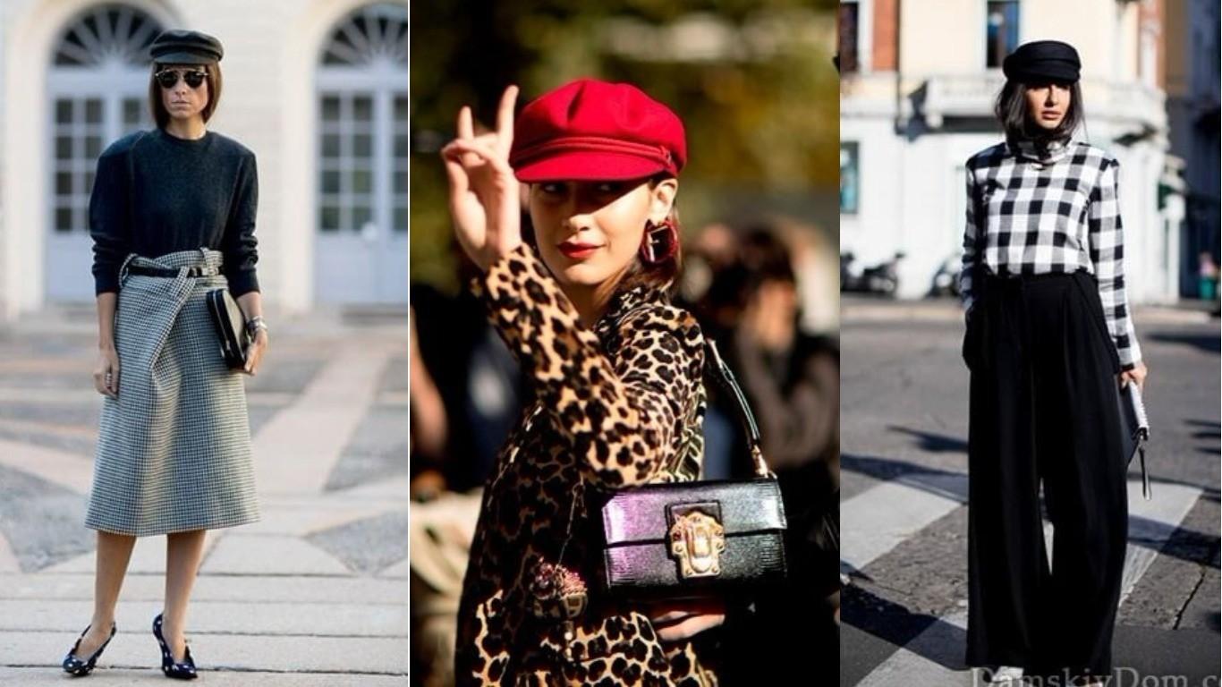 мода улиц стиль весна лето 2018 кепи модный тренд
