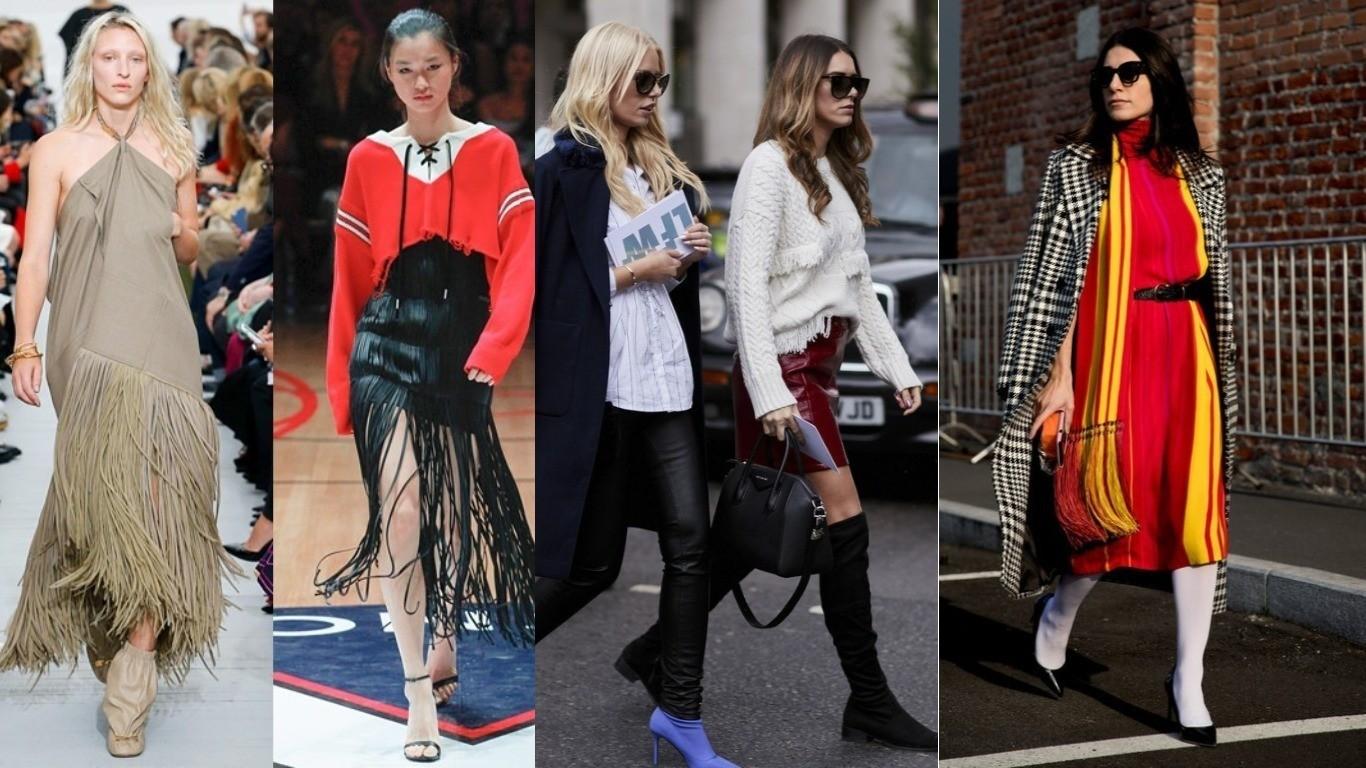 мода улиц весна лето 2018 тренд бахрома на одежде мода