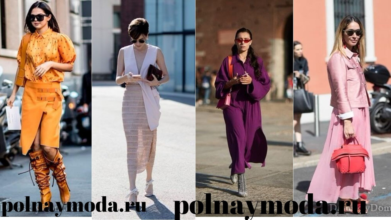 Мода Улиц весна лето 2018 монолук тренд сезона костюмы наряды в одном цвете