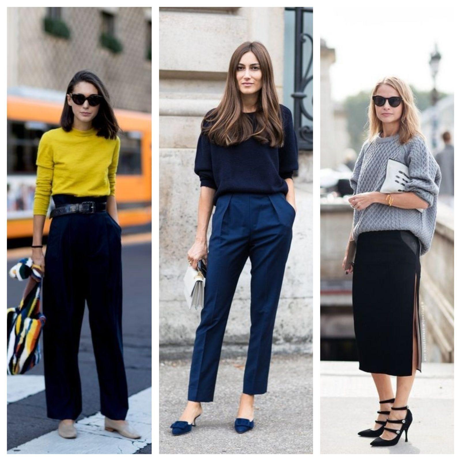 уличный стиль мода 2018 юбочные брючные костюмы