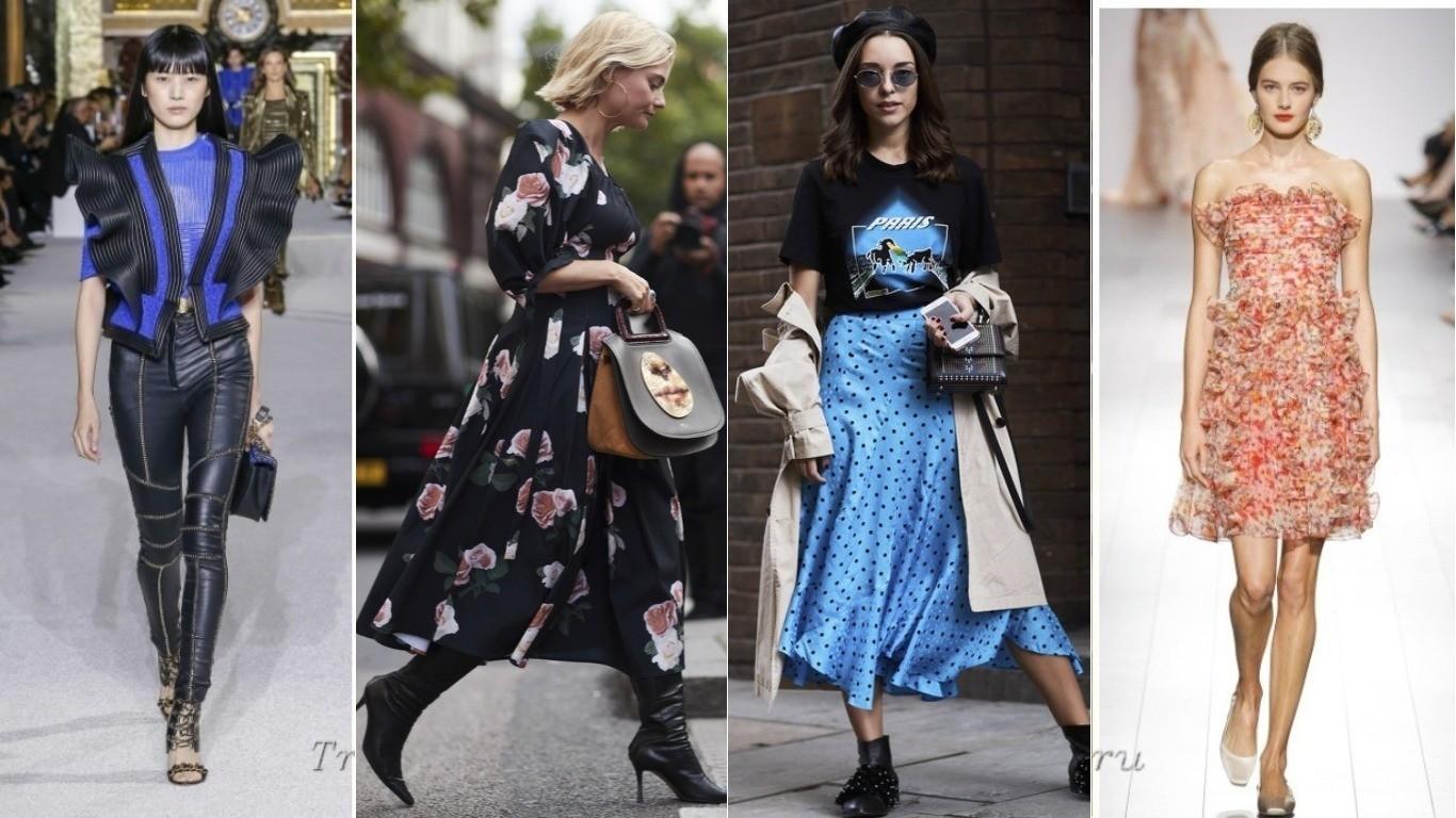 Уличная мода тренд воланы весна лето 2018 воланы на юбках платье
