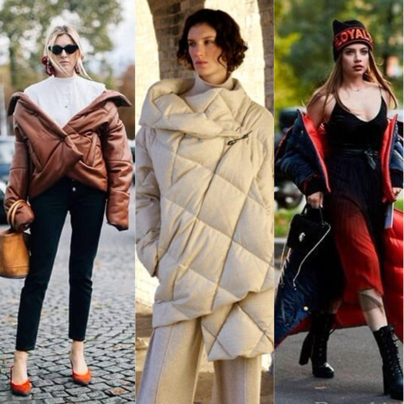 стиль улиц мода весна 2018 пуховики