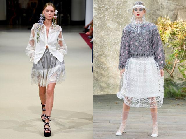 модные юбки из кружева
