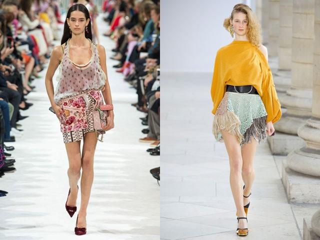 модные мини юбки весна лето 2018
