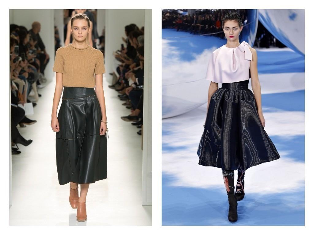 модные фасоны кожаных юбок весна лето 2018