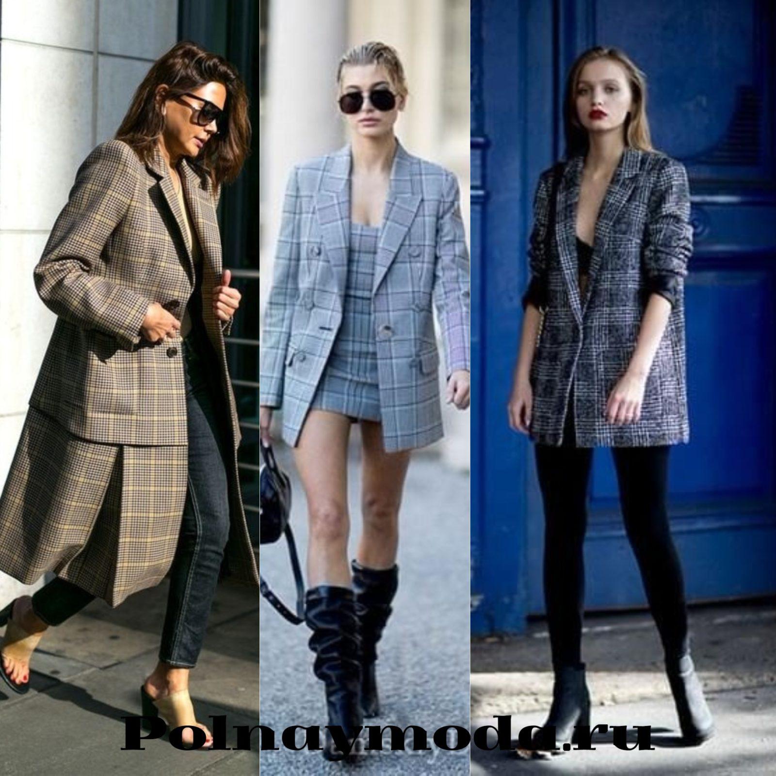 Уличная мода клетка в одежде весна лето пиджаки платья костюмы пальто
