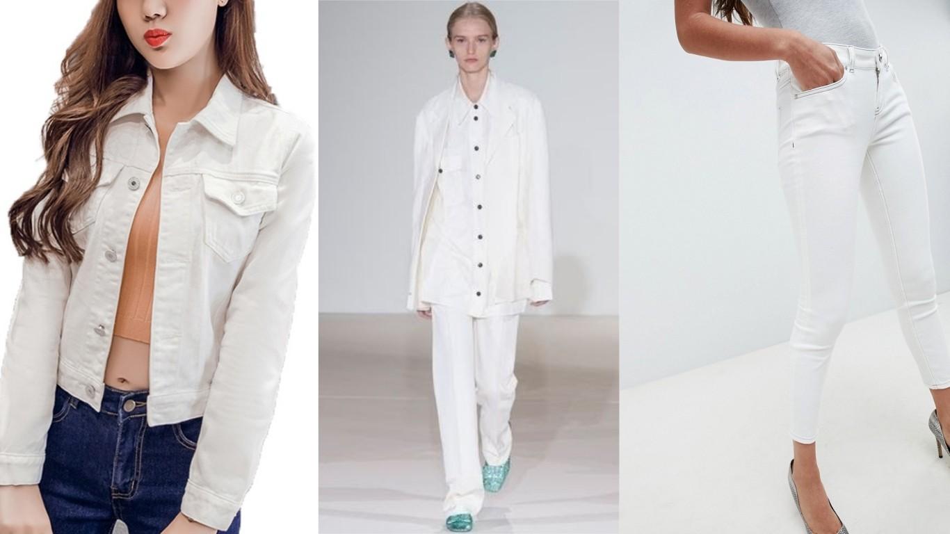 джинс белого цвета деним куртки рубашки тренч брюки джинсы лето 2018 2019