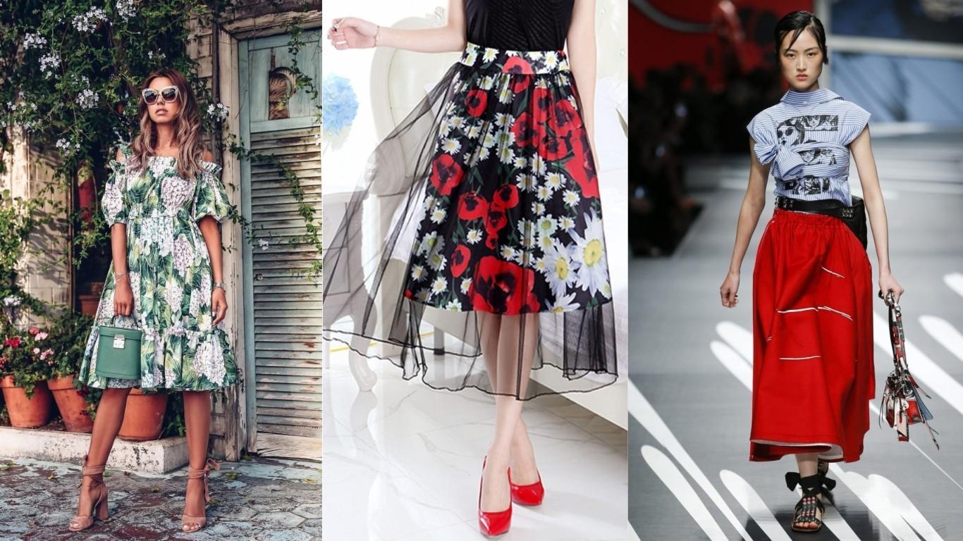тренд лето 2018 2019 воланы рюши банты как декор женской одежды