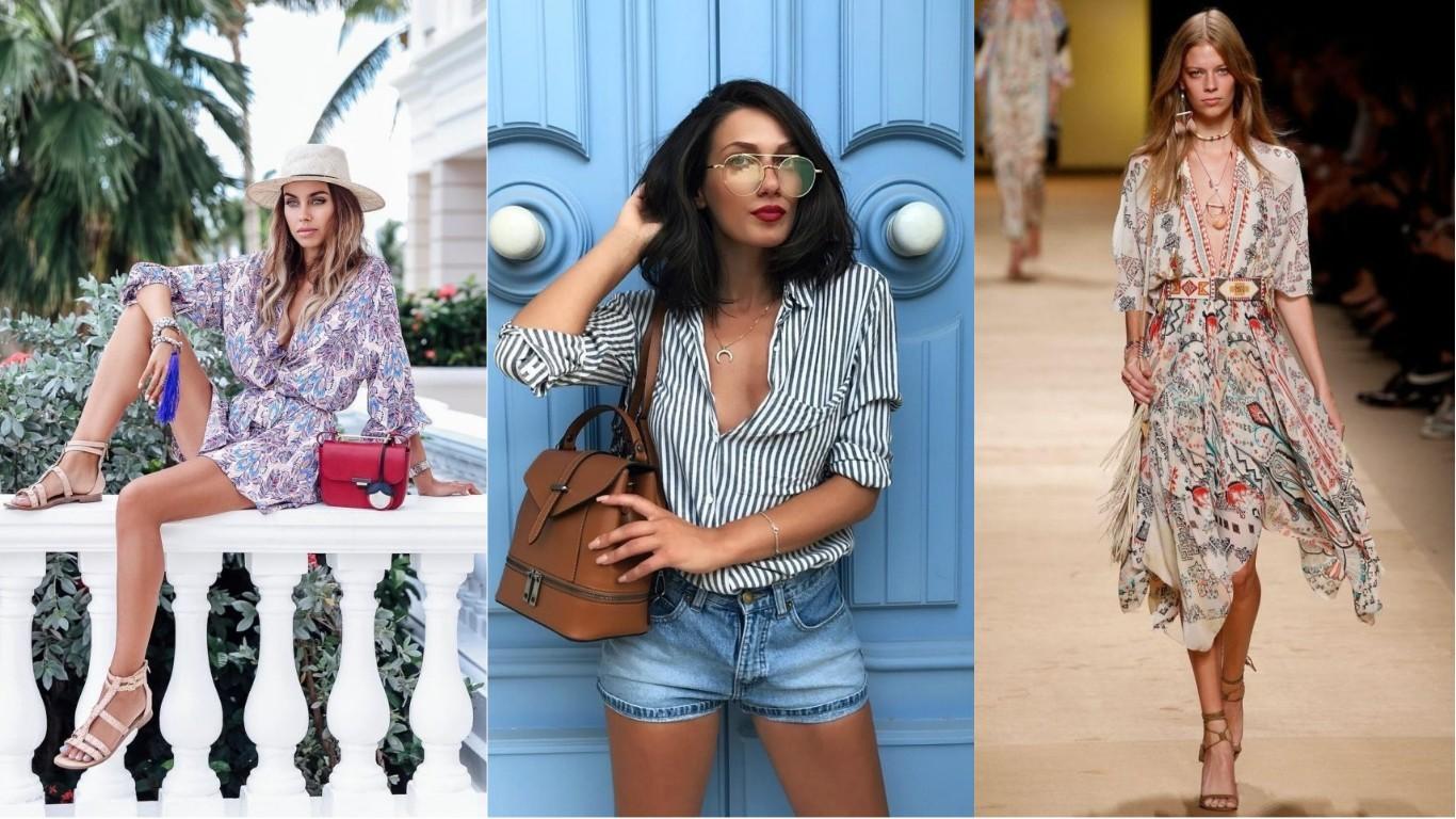 женская мода лето 2018 2019 модные тренды платья блузки шорты юбки