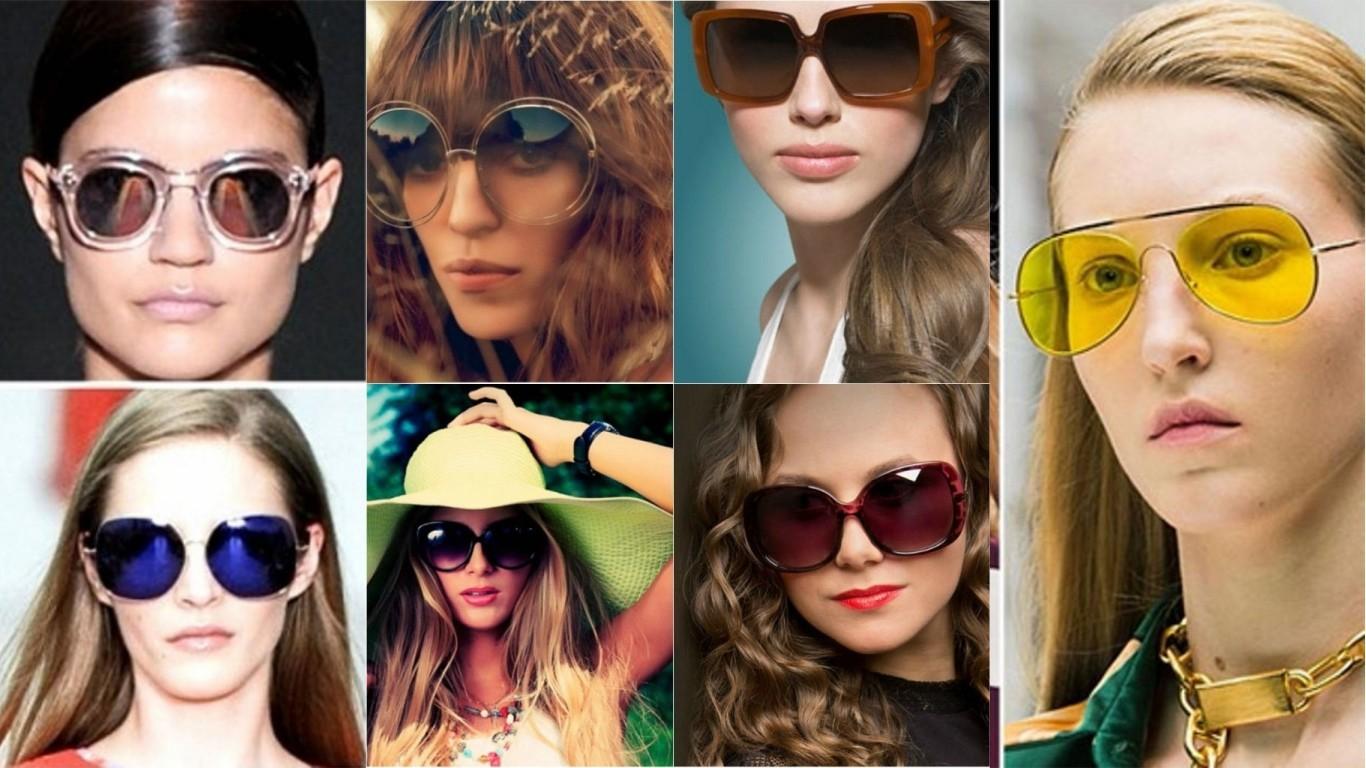 модные солнцезащитные очки женские бордовая зеленая желтая коричневая черная оправа стекла крупные лето 2018 2019