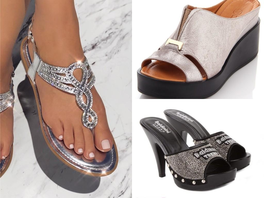 женские сабо мода лето 2018 2019 на толстой подошве на каблуках