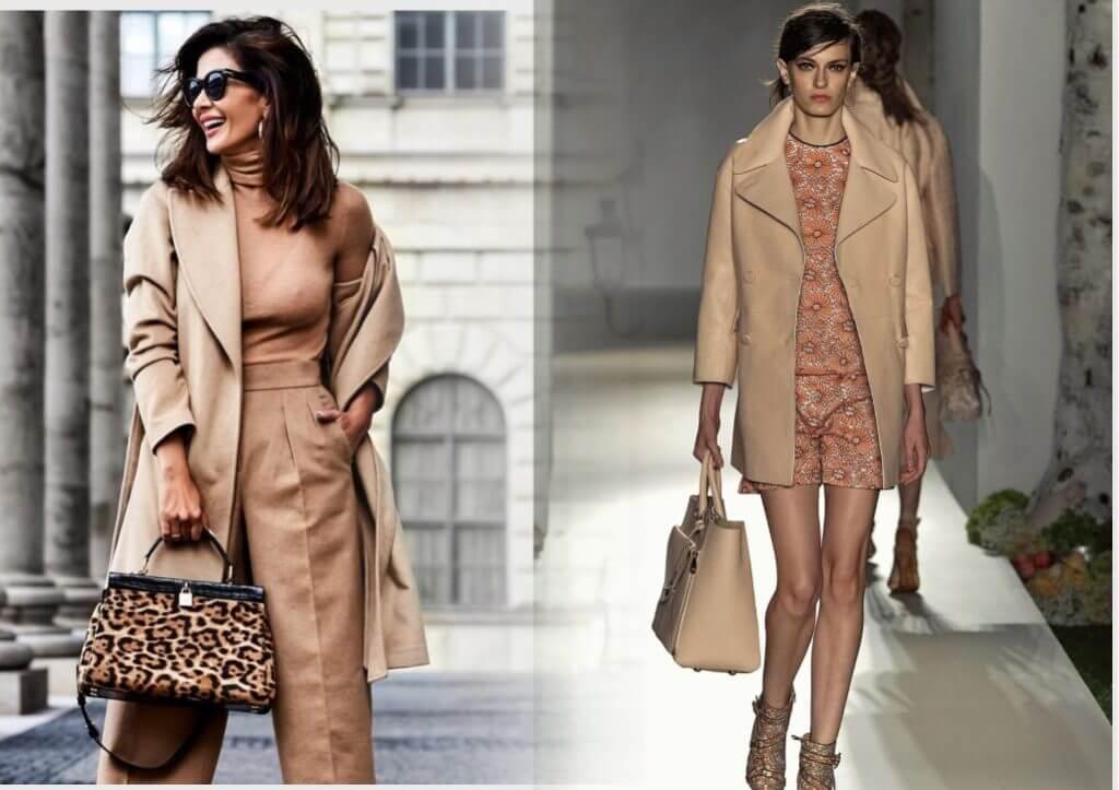 модные бежевые пальто 2020