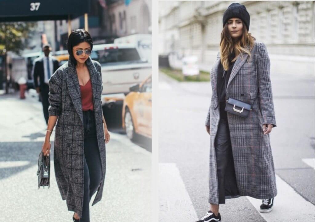 модное весеннее пальто в клетку