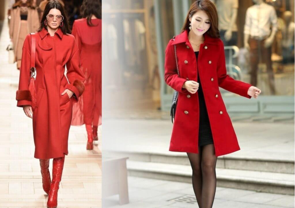 красный тренд пальто 2019